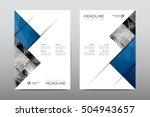 brochure layout template flyer... | Shutterstock .eps vector #504943657