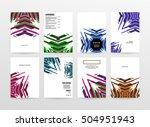 geometric background template... | Shutterstock .eps vector #504951943