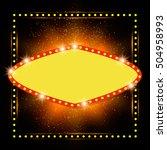 abstract shining retro light...   Shutterstock .eps vector #504958993
