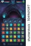 monster battle gui opened door... | Shutterstock .eps vector #504969397