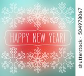 white snowflakes over square... | Shutterstock .eps vector #504978067