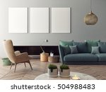 mock up poster with vintage... | Shutterstock . vector #504988483