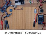 build a racing quadcopter spare ... | Shutterstock . vector #505000423