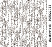 hand drawn sugarcane plants... | Shutterstock .eps vector #505021783