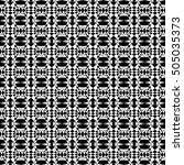 black and white seamless... | Shutterstock .eps vector #505035373