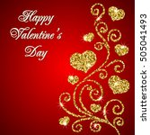 valentines day card with... | Shutterstock . vector #505041493