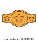 boxing championship belt... | Shutterstock .eps vector #505043383