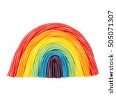 candy rainbow. colorful twisted ... | Shutterstock . vector #505071307