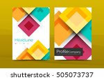 set of front and back a4 size... | Shutterstock . vector #505073737