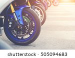 group of big bike and superbike ... | Shutterstock . vector #505094683