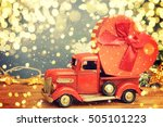 christmas background. pickup... | Shutterstock . vector #505101223