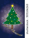 merry christmas wishes suitable ... | Shutterstock .eps vector #505106263