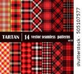 set tartan seamless pattern... | Shutterstock .eps vector #505107577