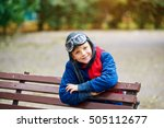 dreams about flying . a child... | Shutterstock . vector #505112677