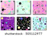 abstract seamless patterns 80's ... | Shutterstock .eps vector #505112977