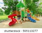 children playground in the park | Shutterstock . vector #505113277