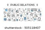 line web concept for public... | Shutterstock .eps vector #505118407