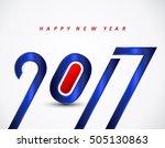 happy new year 2017 calendar... | Shutterstock .eps vector #505130863