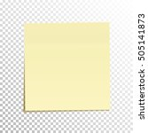sticky note isolated on... | Shutterstock .eps vector #505141873