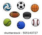 sport balls vector isolated... | Shutterstock .eps vector #505143727