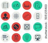 set of 16 universal editable... | Shutterstock .eps vector #505155403