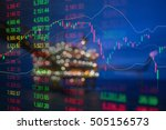 graph of stock market data and... | Shutterstock . vector #505156573