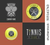 tennis  sport set of vector... | Shutterstock .eps vector #505161763