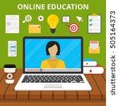 training  education  online... | Shutterstock .eps vector #505164373