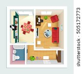 modern detailed floor plan for... | Shutterstock .eps vector #505172773