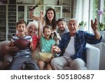 happy multi generation family... | Shutterstock . vector #505180687