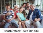 portrait of happy multi... | Shutterstock . vector #505184533