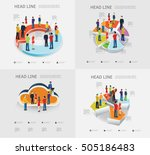 people are standing on bar... | Shutterstock .eps vector #505186483