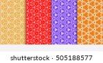 seamless geometry patterns set. ... | Shutterstock .eps vector #505188577