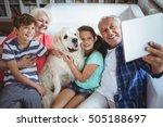 grandparents and grandchildren... | Shutterstock . vector #505188697