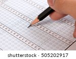 filling out in answer sheet.... | Shutterstock . vector #505202917