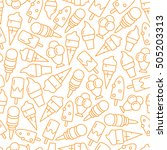 seamless pattern with ice cream | Shutterstock .eps vector #505203313