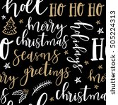 merry christmas hand drawn... | Shutterstock .eps vector #505224313