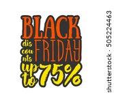 black friday. coupon banner.... | Shutterstock .eps vector #505224463