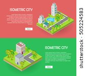 isometric city buildingd vector ... | Shutterstock .eps vector #505224583