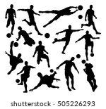 a set of football soccer player ... | Shutterstock . vector #505226293
