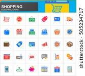 online shopping vector icons... | Shutterstock .eps vector #505234717