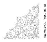 vintage baroque corner scroll... | Shutterstock .eps vector #505248043