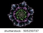 Fractal Abstract Flower With...