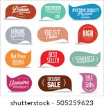 modern sale stickers collection | Shutterstock .eps vector #505259623