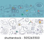 doodle design style concept of... | Shutterstock .eps vector #505265503