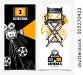 cinema vertical banners with... | Shutterstock .eps vector #505270423