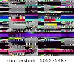 glitch background. computer... | Shutterstock .eps vector #505275487
