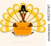 happy thanksgiving turkey and... | Shutterstock .eps vector #505275787