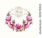 marriage invitation card.... | Shutterstock .eps vector #505278523