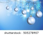 abstract winter holiday... | Shutterstock . vector #505278907
